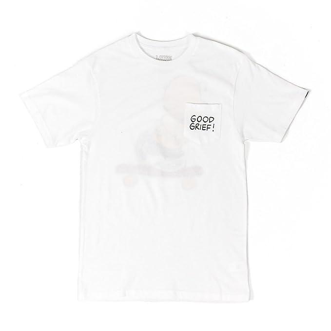 vans Camiseta Good Grief Pocket Peanuts blanco talla: XL (X-Large)
