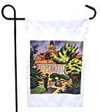 "This August Macke Art Children in the Garden Design 12 x 18"" flag: Image size 11 x 11""es is made from lightweight 100% polyester and is printed in full bleed from edge to edge. With 1000's of different flag designs you can make a statement al..."