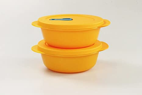 Tupperware Microondas crystalwave (2) 600 ml Bowl Naranja ...