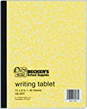 Becker's School Supplies Penmanship Theme Tablets - Tear Out, Ruling 3/8'' x 1/8'', (Pack of 12)
