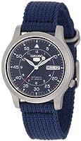 Seiko Men's SNK807 Seiko 5 Automatic Blue Canvas Strap Watch from Seiko
