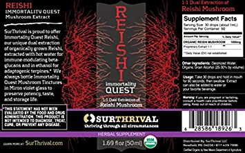 SurThrival Immortality Quest Reishi Extract Tincture 50ML