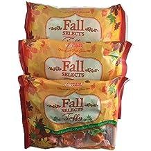 Melster Candies Fall Taffy Candy | Salted Caramel Apple Pumpkin Spice | 3 Bags 7.5 Ounces Each