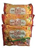 Melster Candies Fall Taffy Candy   Salted Caramel Apple Pumpkin Spice   3 Bags 7.5 Ounces Each