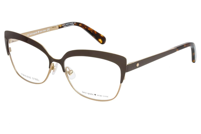 7143a515e9 Eyeglasses Kate Spade Nea 0CV1 Bittersweetbwn at Amazon Men s Clothing  store