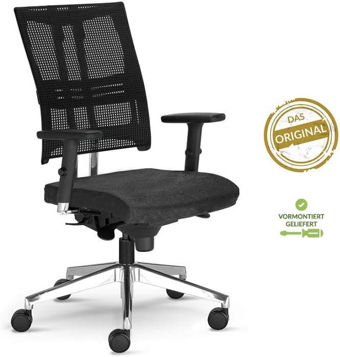 Testsieger Stiftung Warentest Bürostuhl Net Motion mit 3D Armlehnen Drehstuhl