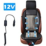Cooling Car Seat Cushion, Black 12V Automotive Universal Fit Full Size Seat Cushion Ventilate Breathable Air Flow with Holes for Driver Seat, Vehicle Front And Back Seats, Office Chair in Hot Summer