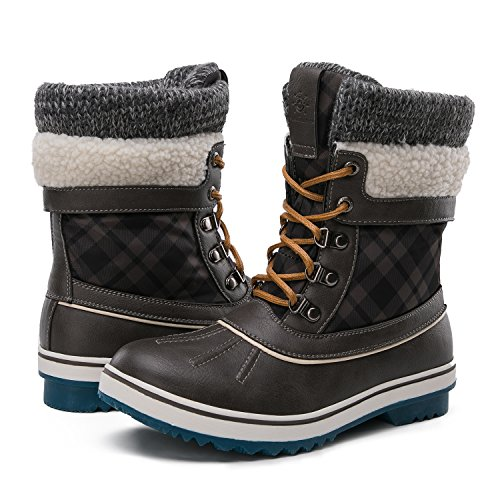 GLOBALWIN Women's Winter Snow Boots (8.5 D(M) US Women's, Grey)