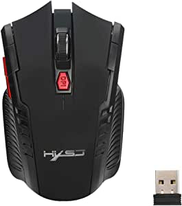 haixclvyE X20 6 Buttons Computer Mouse Notebook Fast Connecting Wireless USB Gaming Mouse for Laptop Computer MAC Gamers Grey