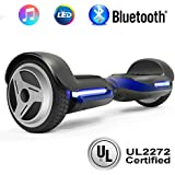 """NHT 6.5"""" Wheel Hoverboard Electric Smart Self Balancing Scooter with Bluetooth Speaker - UL2272 Certified, Black/Blue/Pink/Red/White (G1 Blue)"""