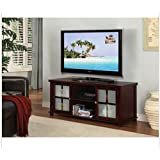 Contemporary Dark Cherry TV Stand