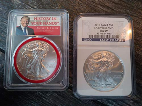 2010 Various Mint Marks American Silver Eagle MS69 Early Release
