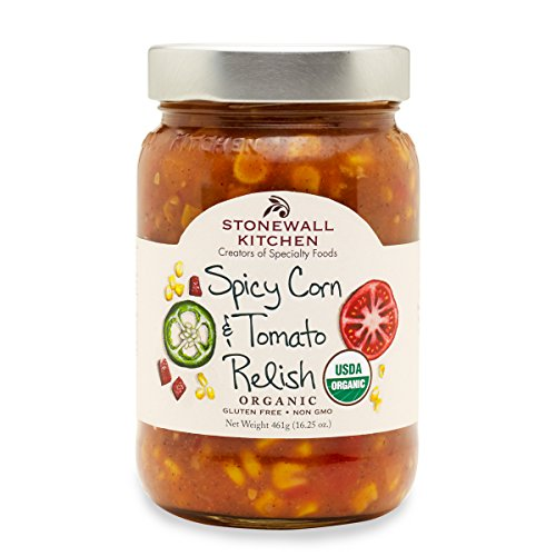 Stonewall Kitchen Relish Organic Spicy Corn Tomato, 16.25 oz