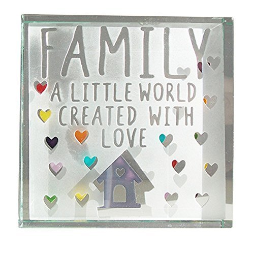 Spaceform Medium Paperweight Family A Little World Created With Love 1957 by Spaceform