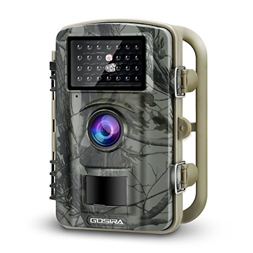 Gosira Trail Camera Motion Activated 12MP HD 1080P Wildlife Hunting 0.5s Trigger 940nm Updated IR LED No Flash Night Vision 15M IP66 Waterproof Game Cam Wide Senor 90° Detection Outdoor Nature Home by Gosira