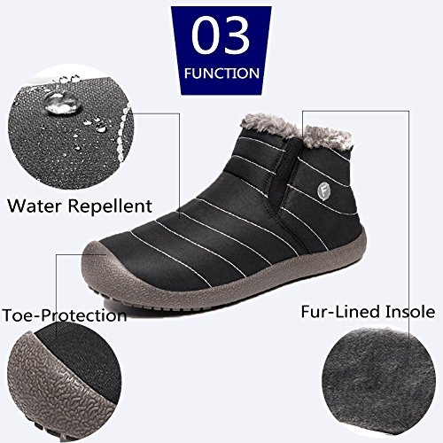 Winter Shoes Booties Men Lined Ankle Black FiveStoresCity on Boots Women Snow Slip Fully Slippers Fur Outdoor Yq460q