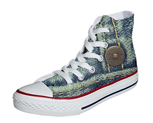 Converse All Star chaussures coutume mixte adulte (produit artisanal) Jeans