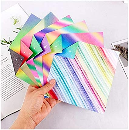 und Bastelprojekte 50 FOGAWA 50 Blatt Origami Papier Faltpapier f/ür Kinder Bastelpapier Origamipapier Origami-Papier 15 x 15 cm Faltbl/ätter f/ür Origami DIY Kunst