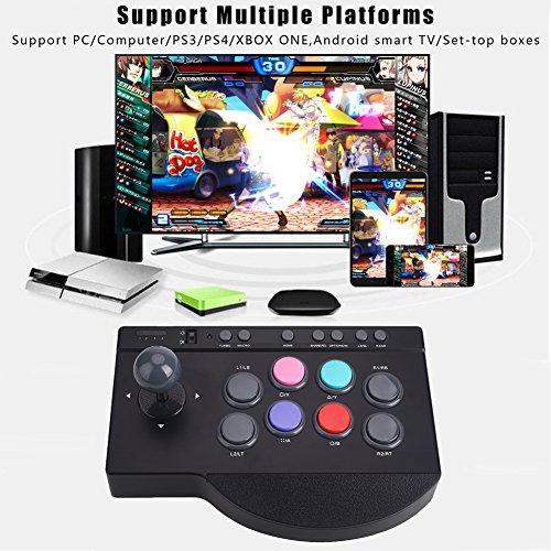 muxiao Controller PXN-0082 Turbo Macro Arcade Arcade Game PC Premium  Joystick Black Gamepad Console PS4