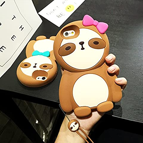CASESOPHY 3D Cartoon Sloth Case for iPhone 6+ 6Plus 5.5