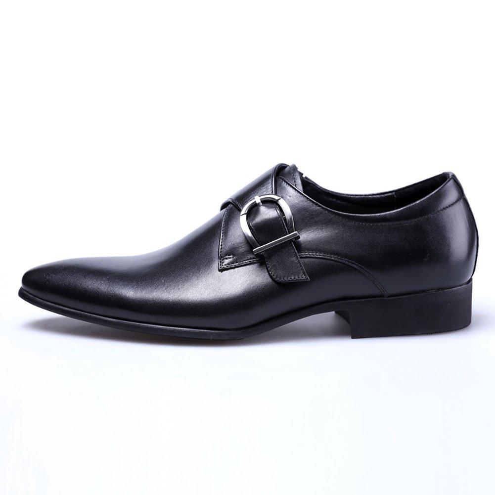 GFP Herren Lederschuhe Spitze Gummisohle Lederschuhe Oxford Schuhe Rutschfeste Herrenmode Schuhe Hochzeit & Abend Lederschuhe