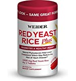 Weider Red Yeast Rice Plus Promotes A Healthy Heart, White, 120 Count