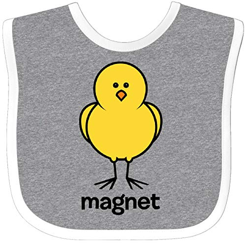 Inktastic Chick Magnet Baby Bib Heather/White