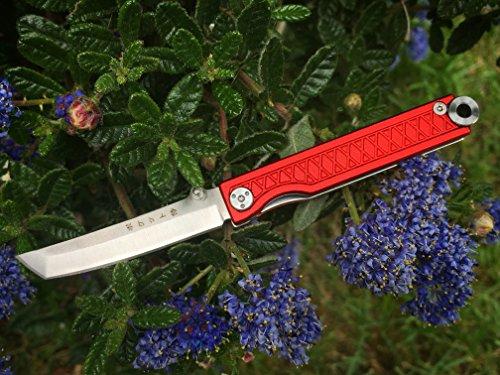 StatGear Pocket Samurai Folder Knife 2.25 in Blade Red Aluminum by StatGear (Image #4)