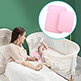Bamboo Waterproof Changing Pad Liners - [2 Pack] Diaper Station Toppers Thicker Longer Portable Changing Mat for Baby Travel Bed Play Stroller Crib Car Portable Mattress Pad Cover for Boys and Girls