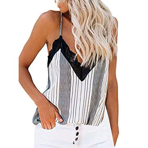 NANTE Top Women Shirt Floral Print Crochet Lace Tank Vest Tops Sleeveless T-Shirt Blouse Casual Tunic Tops (White, XL) (Keen Bags Messenger)