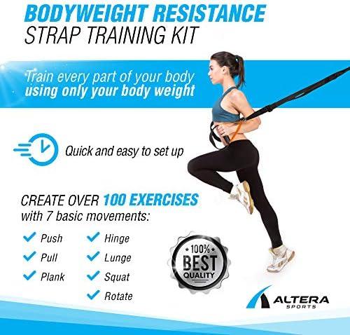 Correas de Entrenamiento - Cintas Entrenamiento en Suspension - Bodyweight Resistance Trainer by Altera Sports