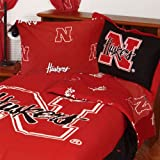 Nebraska Huskers Collegiate King Comforter Set - 3pc NCAA Bedding Ensemble King Size