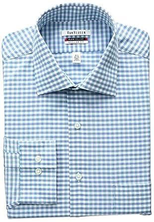 Van heusen men 39 s flex collar regular fit check spread for Van heusen shirts flex collar