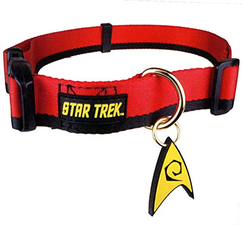 Star Trek Red Logo Dog Pet  Large Collar