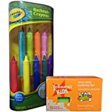 Bath Fun with Crayola Bathtub Crayons and Johnson's Kids Easy-Grip Sudzing Bar Bundle. 2 Items: Crayons and Soap