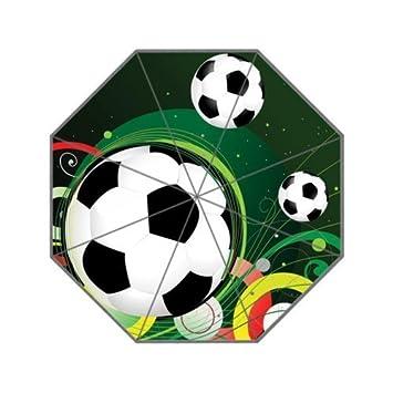 Fútbol balón de fútbol paraguas de viaje compacto paraguas plegable 8 costillas paraguas de lluvia para