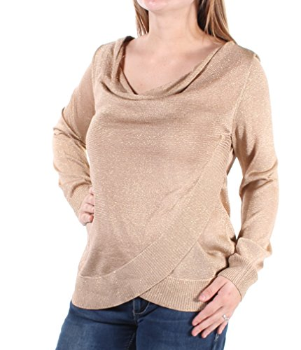 INC International Concepts Women's Draped Metallic Sweater (Gold, Small) from INC International Concepts