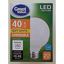 2-Pack LED G25 Globe Bulbs