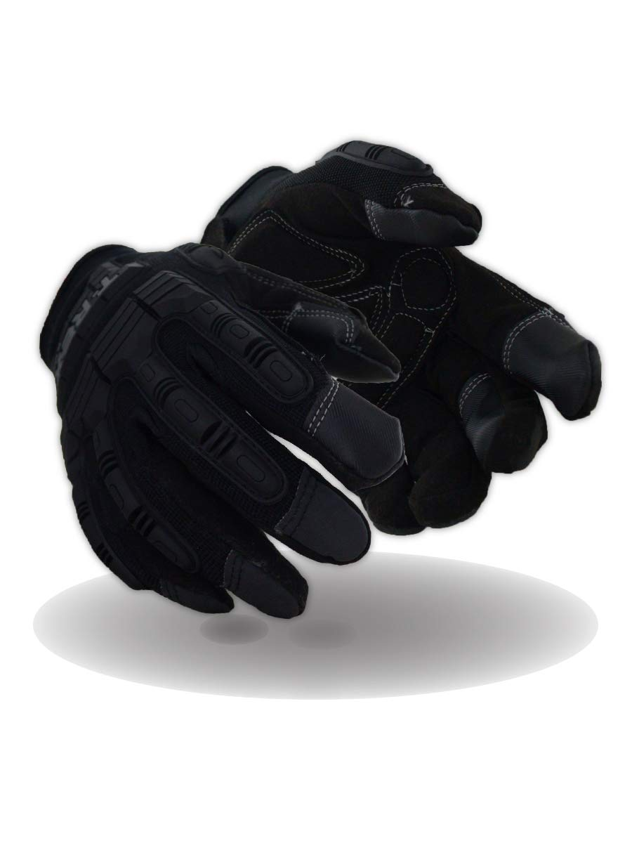 Magid Glove & Safety PGP49TL T-Rex Impact Ultra Gloves, Black, 8/M 4