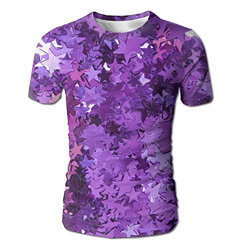 MNNS Wild Beast Male Graphic Fashion Sparkle Background Short O-Neck Tee M (Collins Abstract Painting)