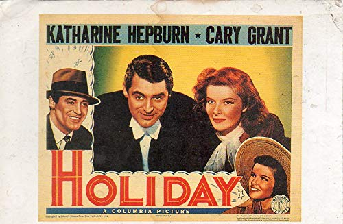 Postcard Holiday Katharine Hepburn Cary Grant A Columbia Picture