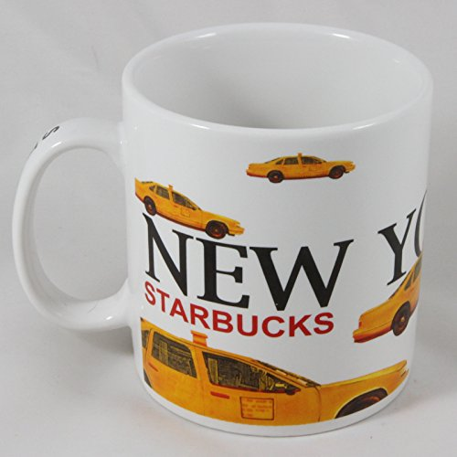 Starbucks Barista 2001 New York Yellow Taxi Cab Coffee Mug, 20 oz