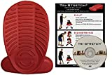 TRI-STRETCH Balance Pad for Calf Stretch, Hamstring Stretch, IT Band Stretch, Leg Stretching, Core Strength Training and Physical Therapy. Includes Exercise DVD and Wall Chart.