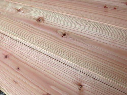 無垢杉板 羽目板節あり (木材 11×160×1985 10枚)) 1束 アイジャクリ加工