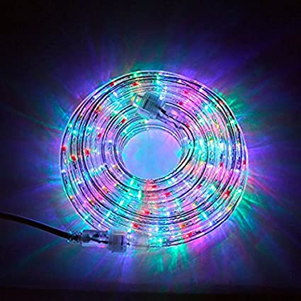 24 Ft. Plugin Rope Lights, 287 Multicolor LEDs, Connectable ...