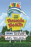 Pensacola Beach, Florida - Sign (9x12 Art Print, Wall Decor Travel Poster)