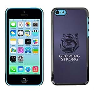 LECELL--Funda protectora / Cubierta / Piel For iPhone 5C -- Crecer Fuerte - Funny Ewok --