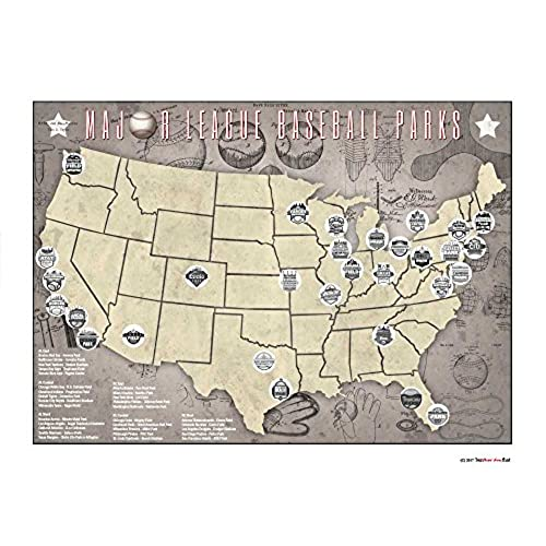 MLB Posters Amazoncom - Mlb us map
