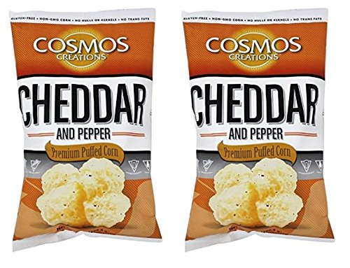 (Cosmos Creations Puffed Corn Cheddar And Pepper, 7 oz (Pack of 2))