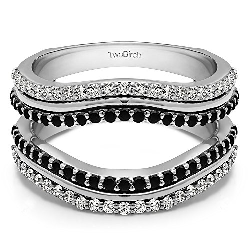 0.75 ct. Black And White Cubic Zirconia Double